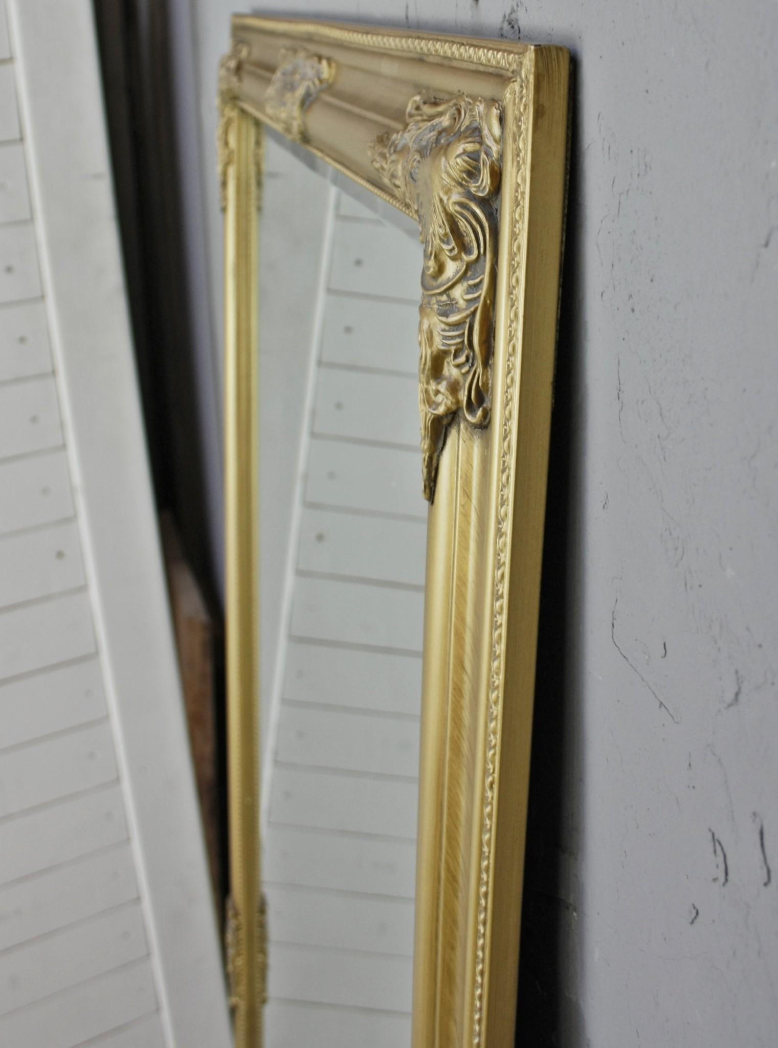 spiegel gold 162cm wandspiegel standspiegel holz landhaus. Black Bedroom Furniture Sets. Home Design Ideas