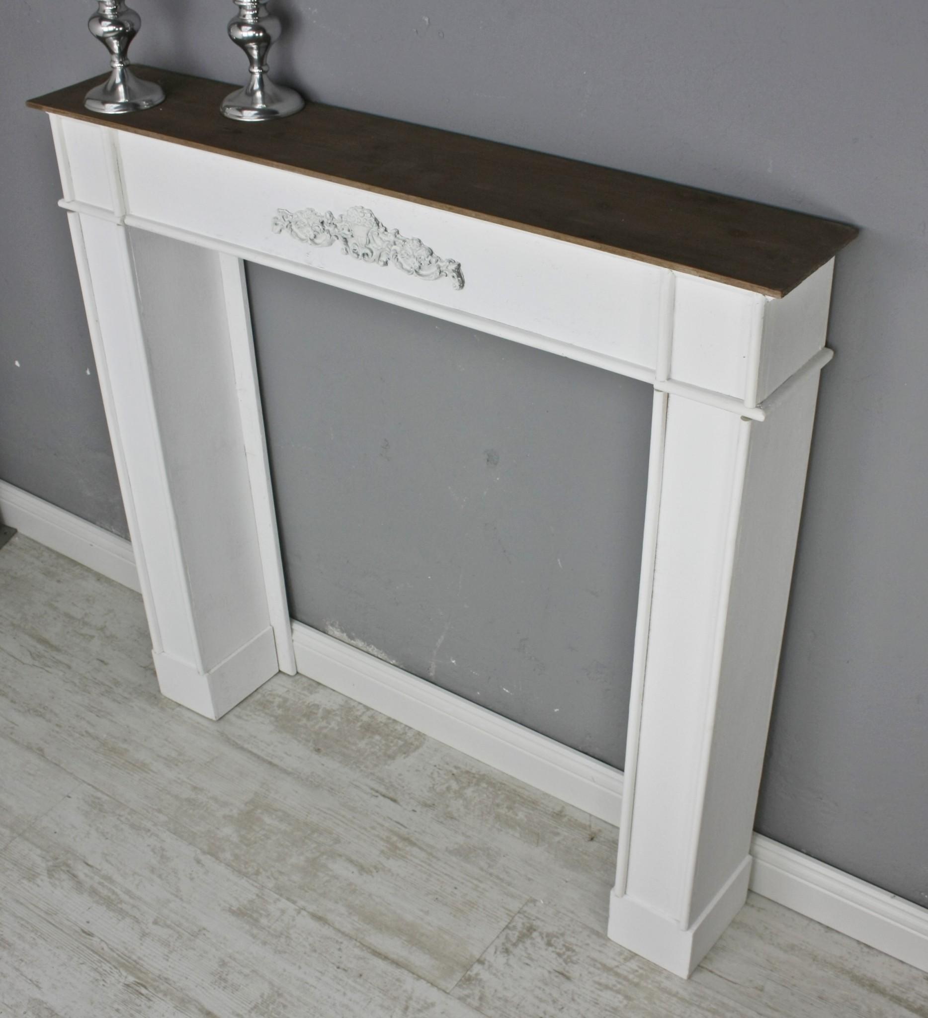 kaminumrandung kaminumbau kaminkonsole mdf wei braun f r. Black Bedroom Furniture Sets. Home Design Ideas