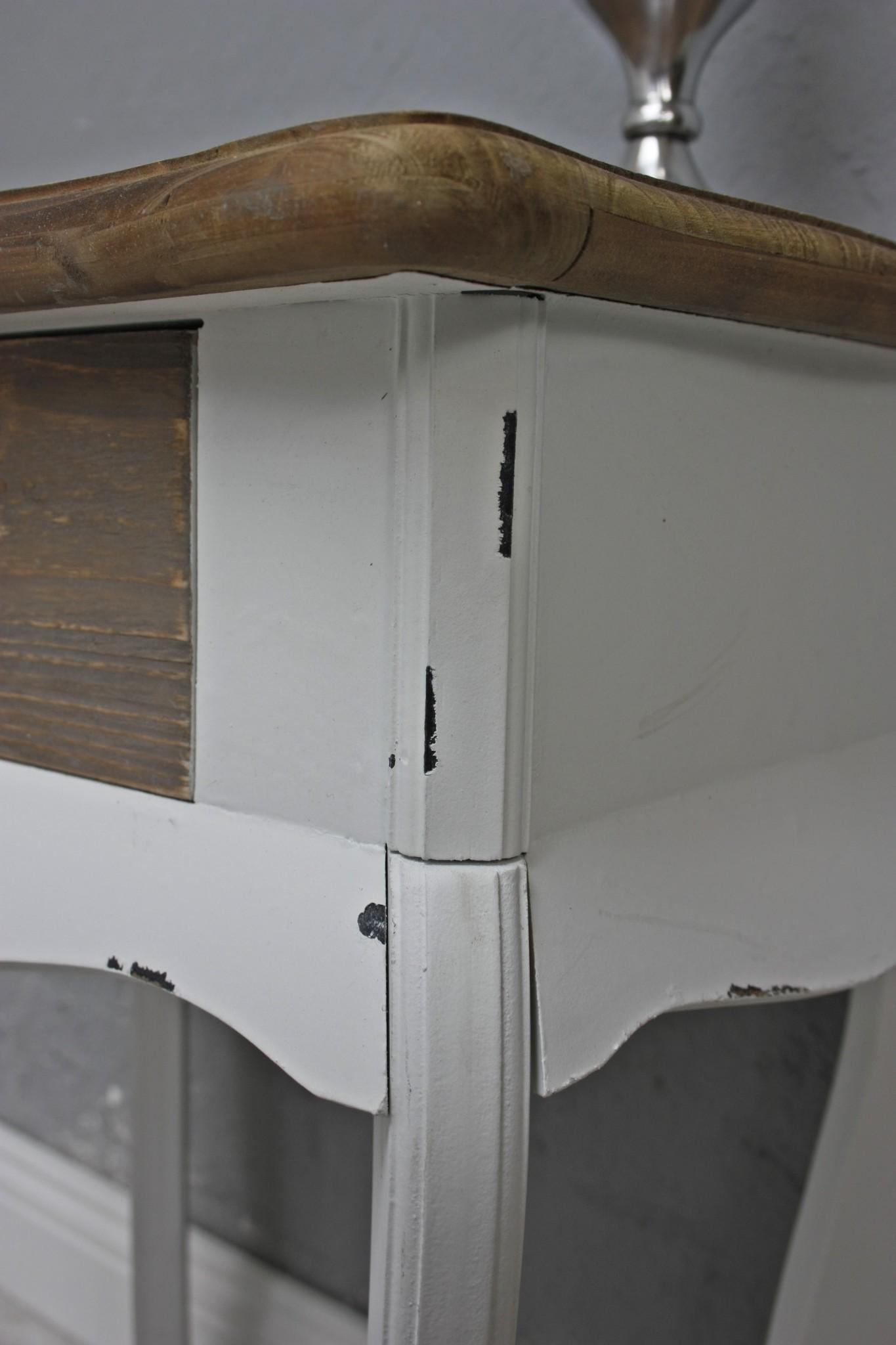 telefontisch konsole tisch wei braun chic landhaus beistelltisch holz schublade ebay