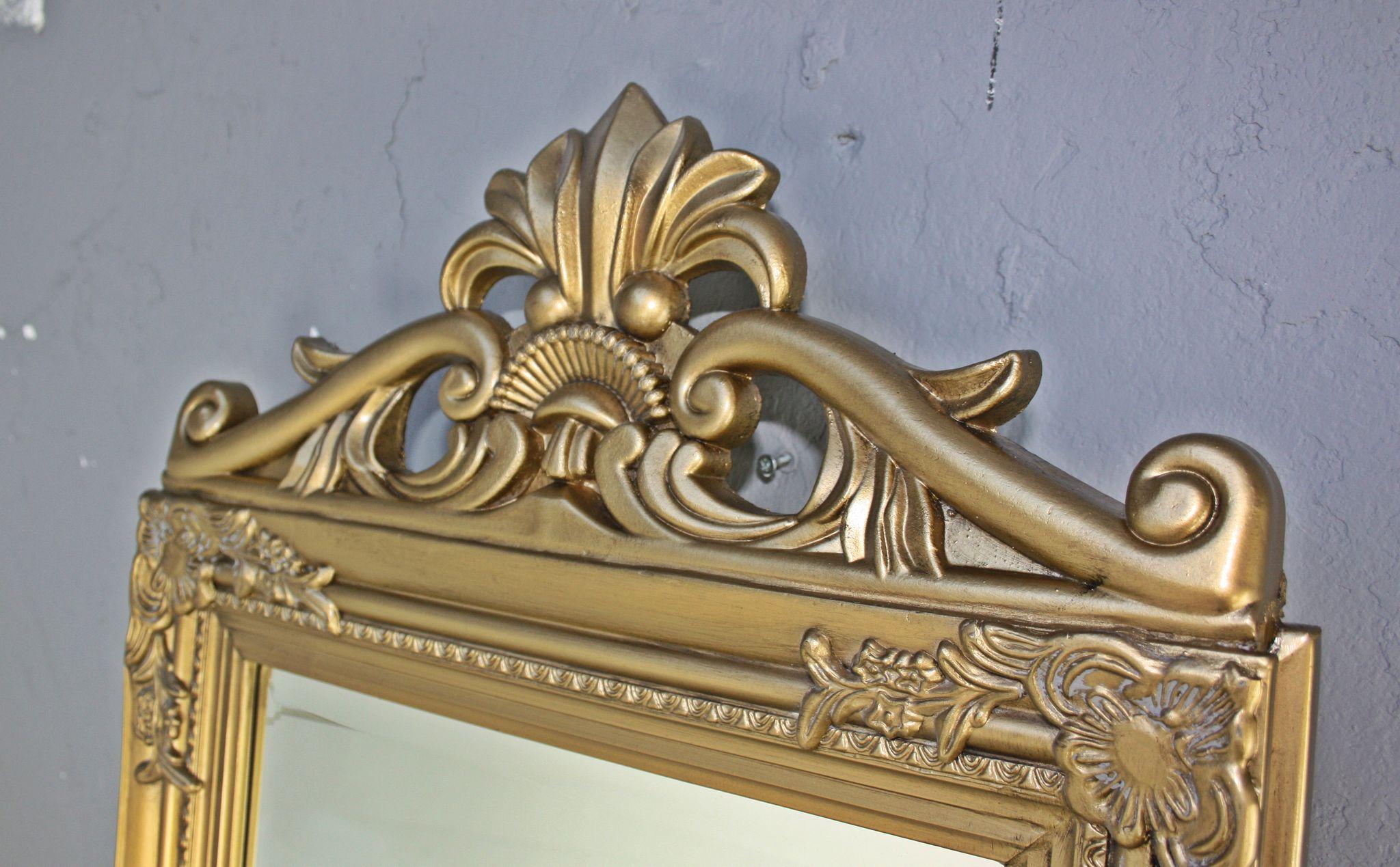 Standspiegel Gold Antik Mit Krone Elbmöbel