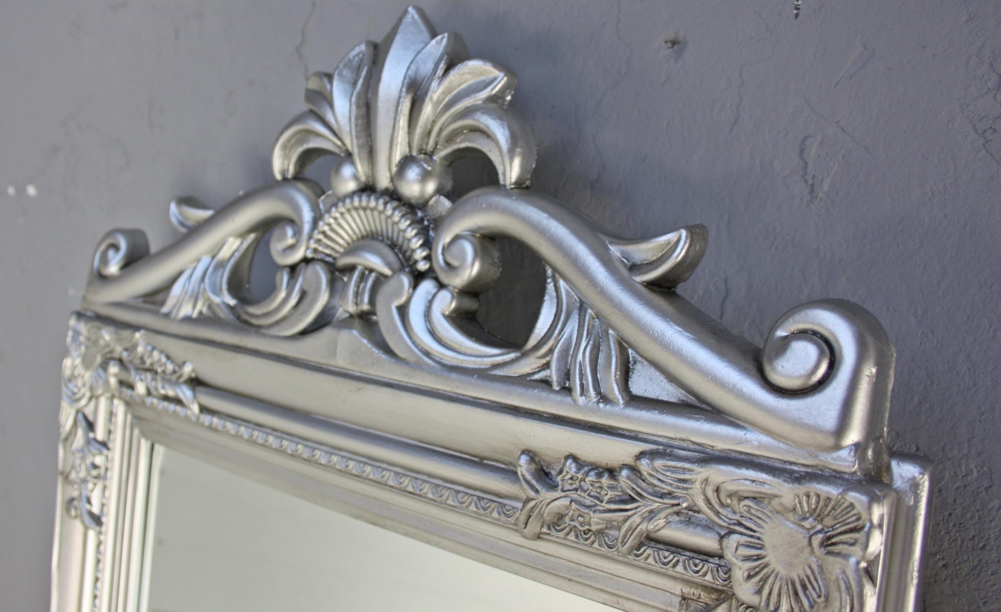 standspiegel silber antik gro 180x45x3 holz wandspiegel. Black Bedroom Furniture Sets. Home Design Ideas